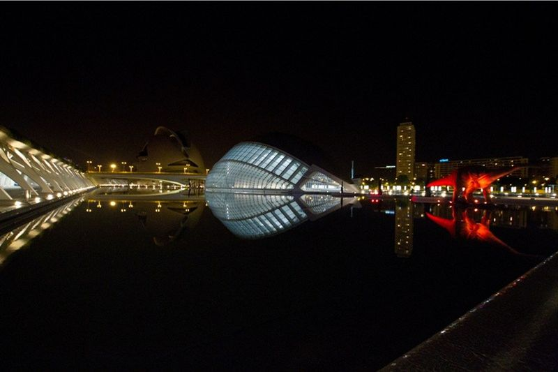 Valencia City of Sciences at night by aussirose