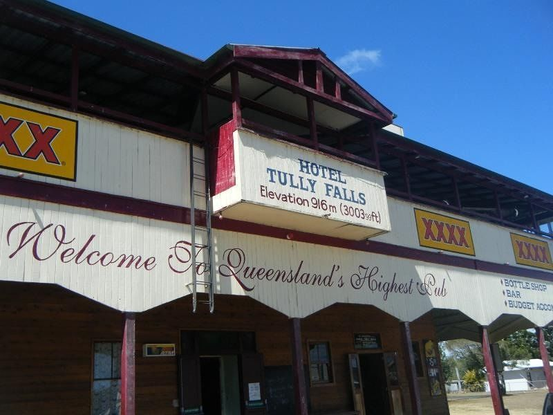 Tully Falls Hotel, highest pub in QLD by aussirose - Cairns