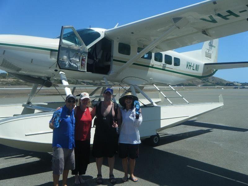 Seaplane staff love vt thongs!! - Hamilton Island