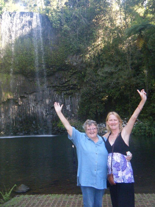 tropicrd and aussirose at Millaa Millaa Falls - Cairns