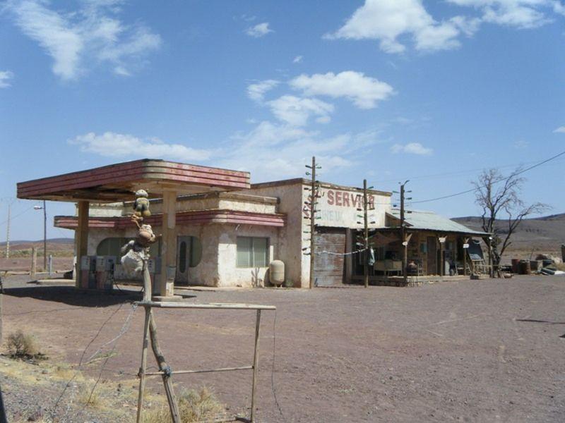 Fake Service Station Sahara Desert - Morocco