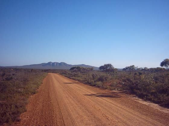 Red dirt track Fitzgerald National Park WA - Hopetoun