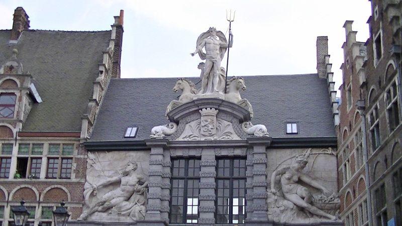 Carvings on buildings in Gent Belgium by aussirose - Gent