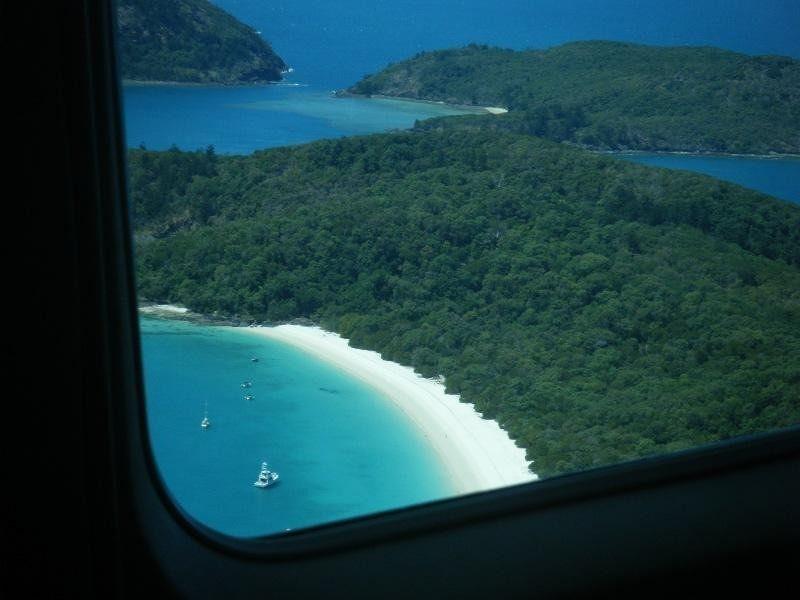 Whitehaven Beach Whitsundays from sea plane - Hamilton Island