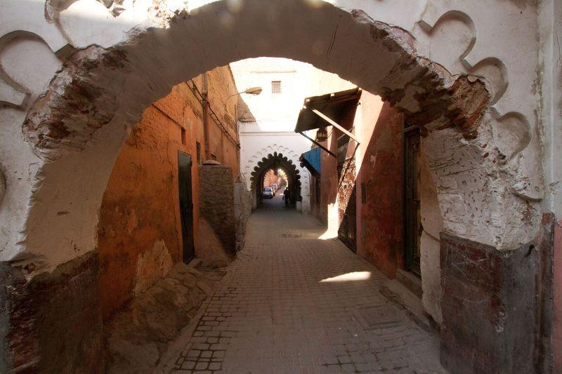 Back streets Medina Marrakech by aussirose - Marrakesh