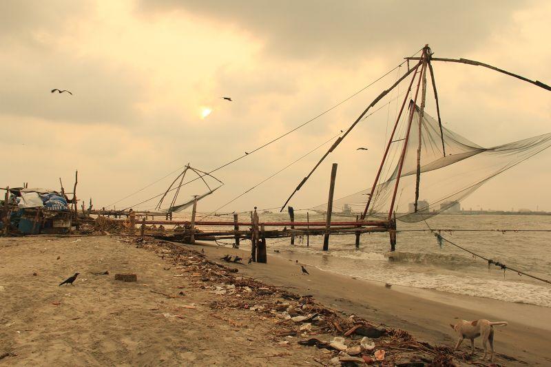 Chinese Fishing Nets Fort Kochi by aussirose - Kochi