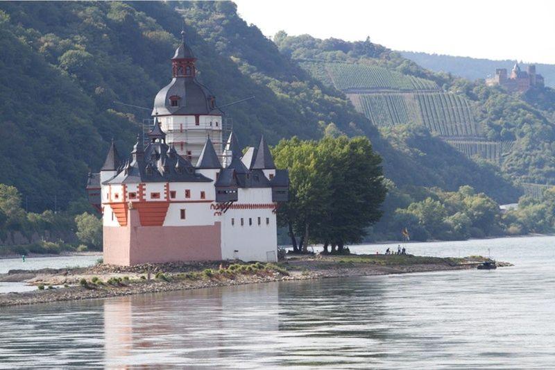 Pfalzgafenstein Castle - Rhine River by aussirose - Oestrich-Winkel