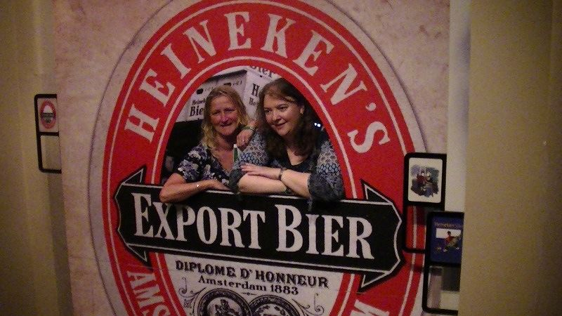 aussirose and dila Heineken Experience Amsterdam - Amsterdam