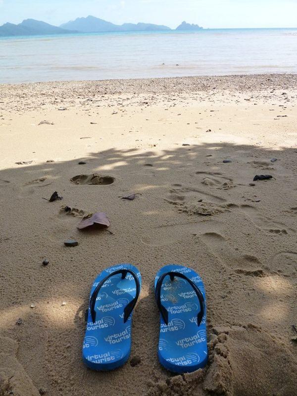 VT Thongs on Tengkorak Beach Langkawi by aussirose - Pulau Langkawi