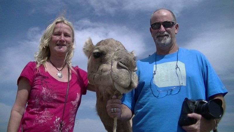 aussirose, camel and Howie Essaouira Morocco lookout - Morocco