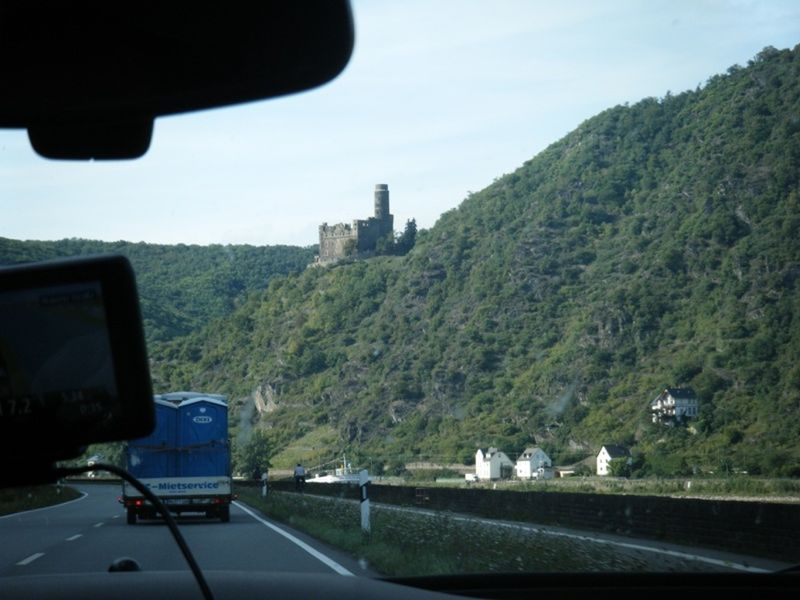 Castles along the Rhine River by aussirose - Oestrich-Winkel