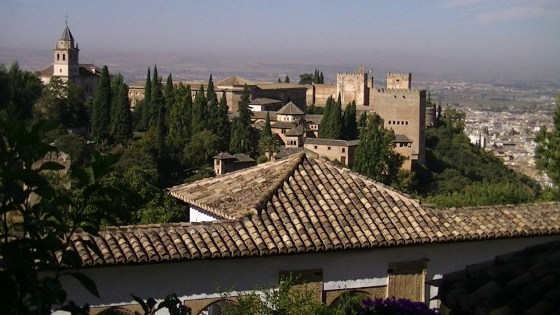Overlooking the Sierra Nevada from La Alhambra