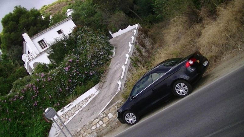aussirose looks back at convertible VW Spain - Mijas