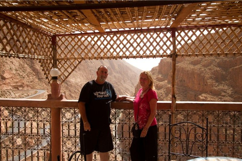 aussirose and Howie overlooking Dades Gorges - Morocco