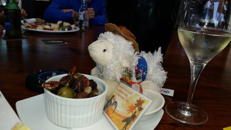 Aussie_Barney enjoys olives at Cairns VT Meet 2014 - Cairns