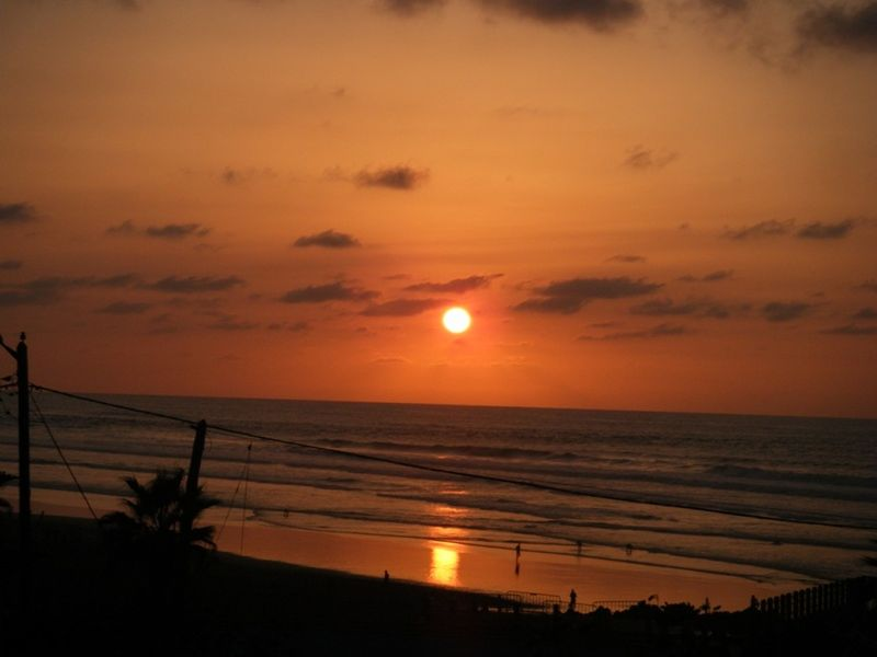 Sunset on Atlantic coast Casablanca Morocco