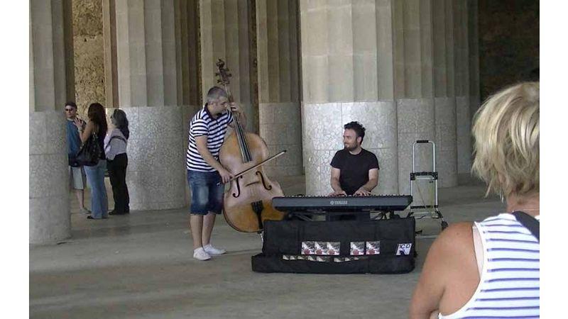 Parc de Guell musicians by aussirose - Barcelona