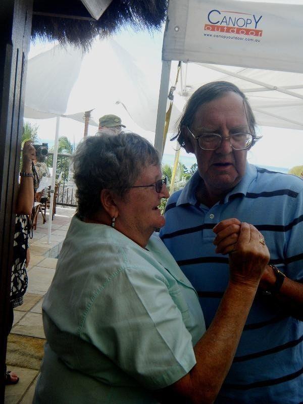 Dorris and Rex dance at Deja vu Restaurant - Airlie Beach