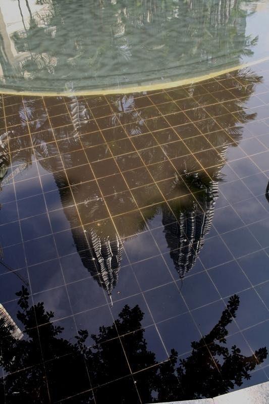 Twin Towers KL water view by aussirose - Kuala Lumpur