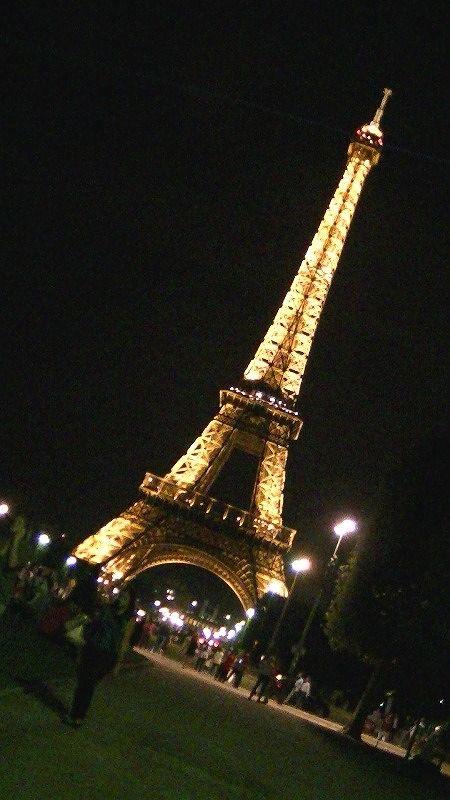 Eiffel Tower at night - Paris by aussirose