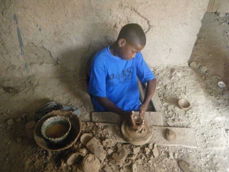 Making pottery at Tamgroute by aussirose - Morocco