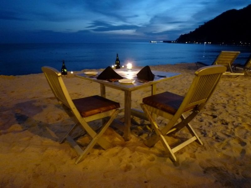 Pulau Langkawi Dining on the Beach by aussirose