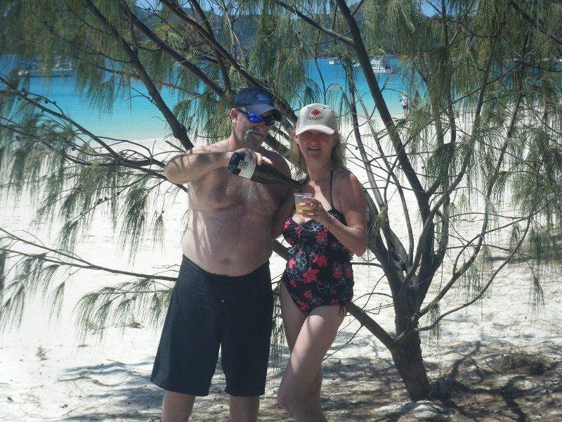 aussirose & hubby on Whitehaven beach - Hamilton Island