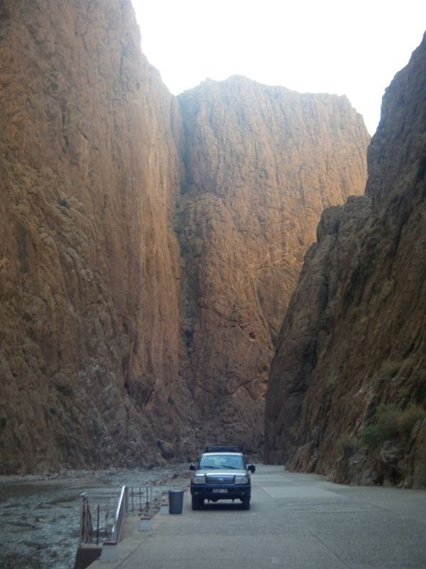 aussirose and Howie check out the Todra Gorges - Morocco