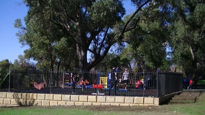 Playground for the kids at Joondalup Lake