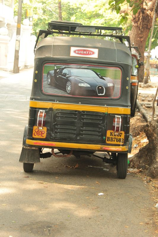 aussirose spots Bugatti Tuk Tuk in Fort Kochi - Kochi