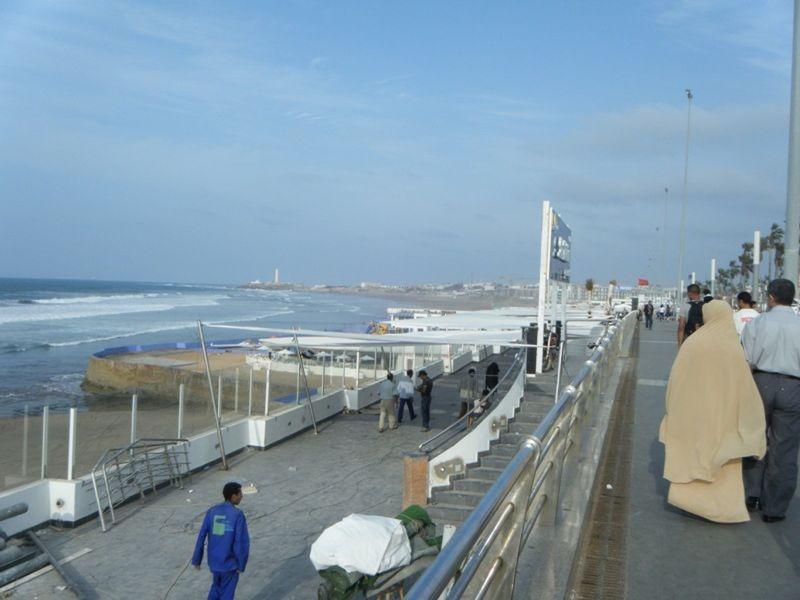 La Corniche beachside corso Casablanca Morocco