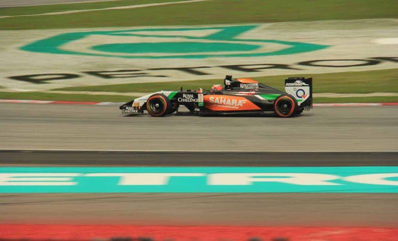 Force India F1 Sepang KL panning shot by aussirose - Kuala Lumpur