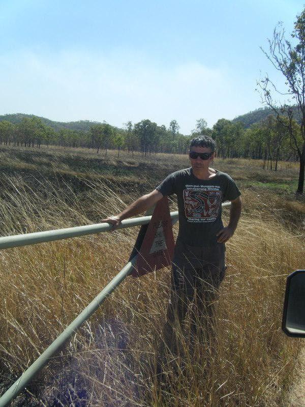 Ranger Zig Opens gate to Jarrangbarnmi Billabong - Kakadu National Park