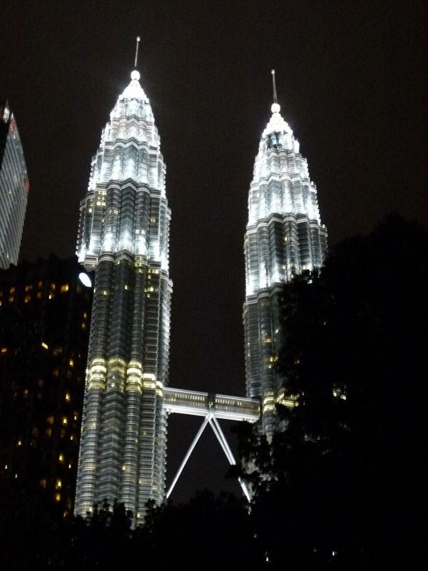 Petronas Twin Towers at Night by aussirose - Kuala Lumpur