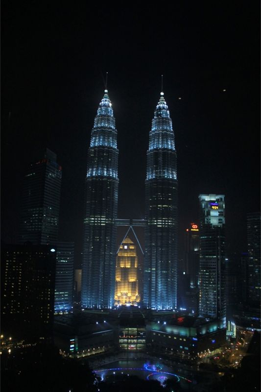 Petronas Twin Towers Frm Traders Sky Bar aussirose - Kuala Lumpur
