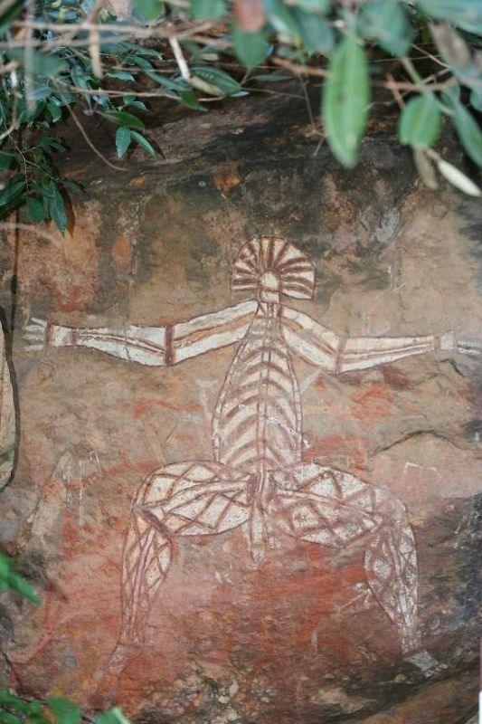 Nourlangie Rock Aboriginal Art - Kakadu NT - Kakadu National Park