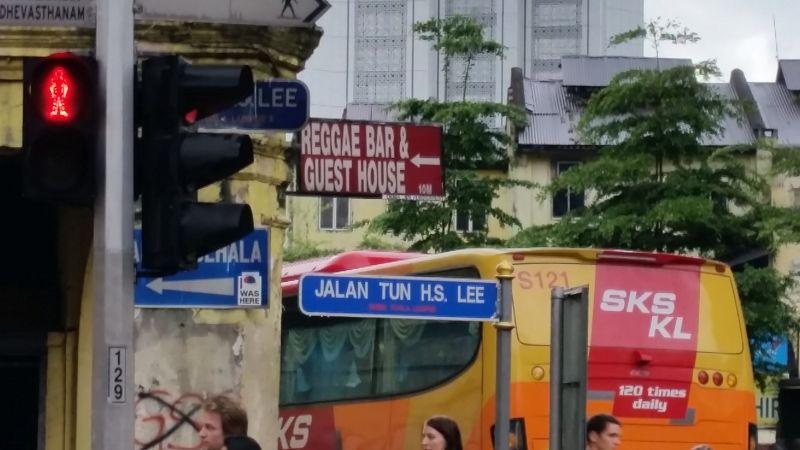 Sign Post says Reggae Bar this way - KL - Kuala Lumpur