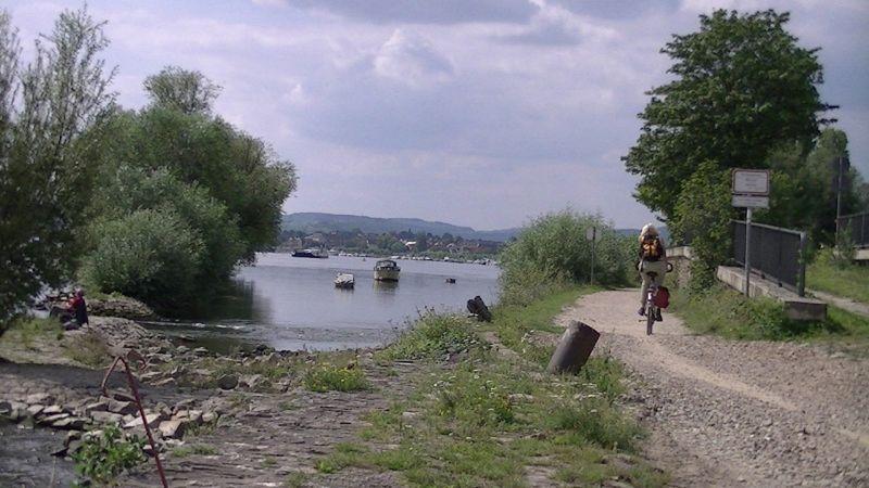 Rhine River at Oestrich-Winkel by aussirose - Oestrich-Winkel