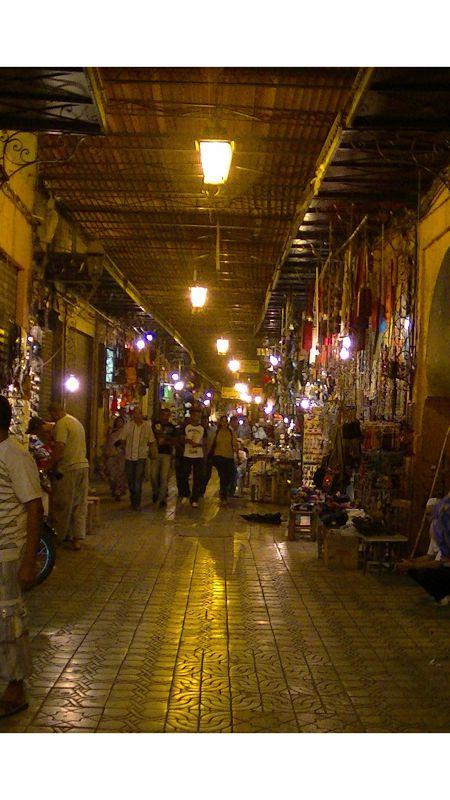 Marrakech Medina Souk at night by aussirose - Marrakesh