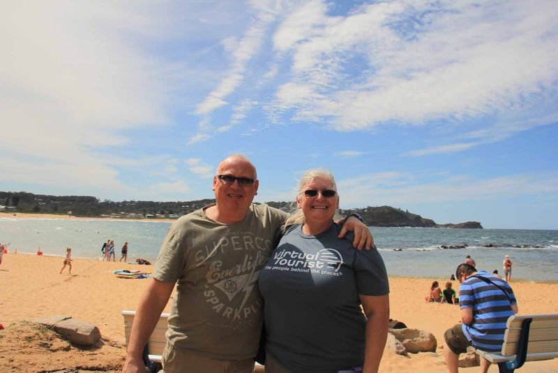 Andy and Sue from Melbourne at Avoca Beach - Sydney
