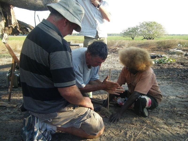 Zig, Bob Patsy fire starting - Kakadu National Park