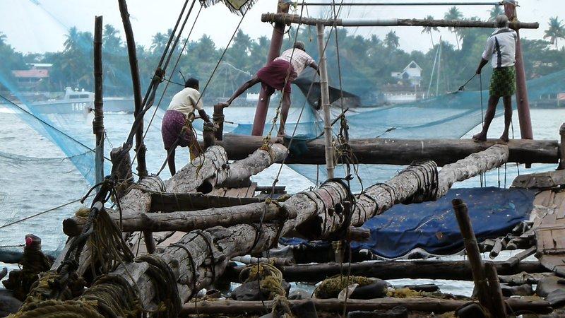 Fishing Nets Men at Work