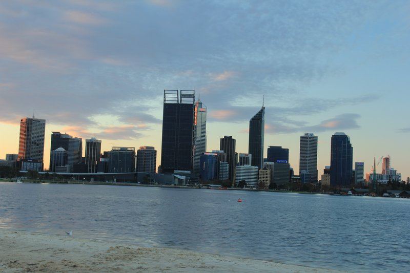 Perth Skyline after sunset