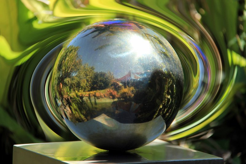 Photoshopped Ball Reflection Jaques Coffee Shop Mareeba