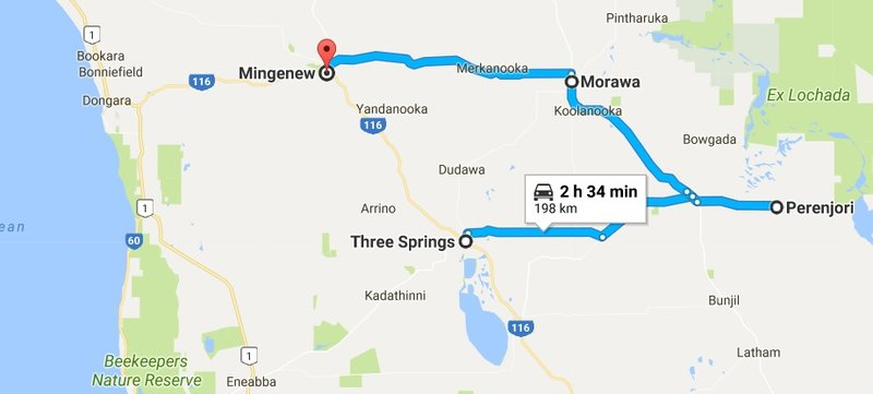Three Springs to Mingenew