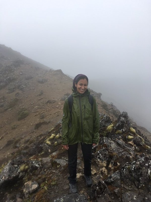 At the summit - soaked & wet