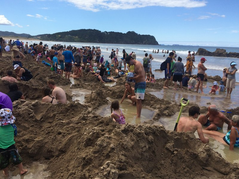 Hot water beach at Coromandel