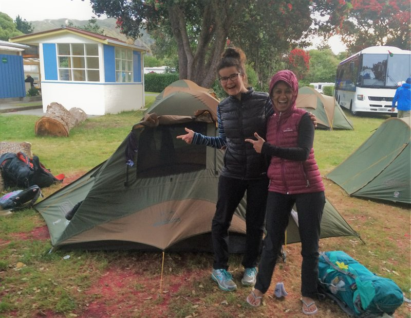 My tent roomie