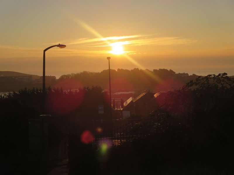 Sunrise over Barry Island