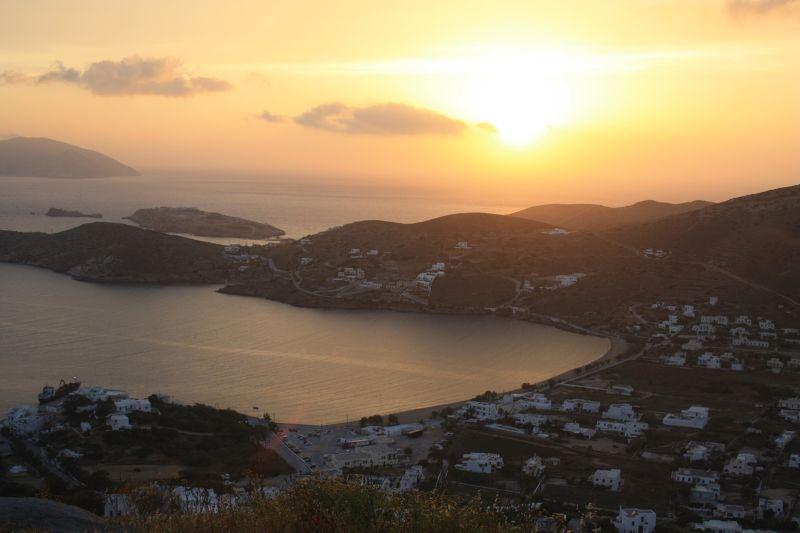 Sunset over Ios Island